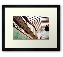 Chicago Metro Station Framed Print