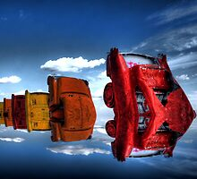 Floating Cadillac Ranch by Gregory Collins