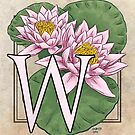W is for Water Lily Card by Stephanie Smith