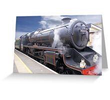 """The """"Eric Treacy"""" Steam Train, Whitby, North Yorkshire, England Greeting Card"""