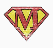 Vintage M Letter Kids Clothes