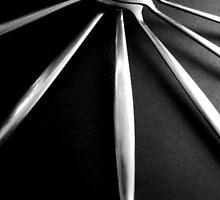 Spoons on Black - Still Life by Victoria limerick