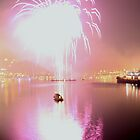 Fourth of July Fireworks - Pittsburgh, PA by searchlight