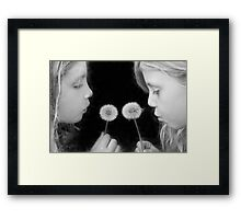 The Minute Between Framed Print