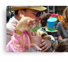 Easter Sunday on the 5th Avenue with my dogs Canvas Print