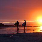 Sunset surfers 4 by Michaela  Benz