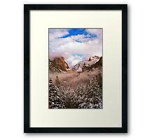 WINTER,YOSEMITE VALLEY Framed Print