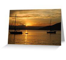 Sunset on Guaraquecaba Bay Greeting Card