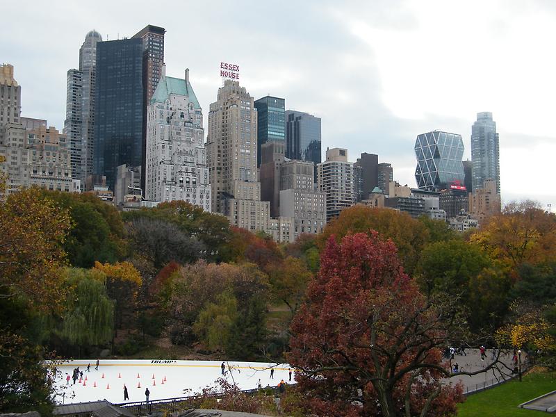 NY November Wollman Rink, Central Park, Fall Foliage by lenspiro