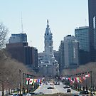 Philadelphia City Hall, Ben Franklin Blvd, Seen from Museum Row by lenspiro