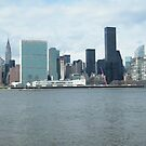 East River View of Manhattan, As Seen from Long Island City by lenspiro