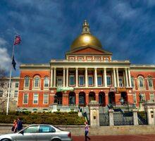 Massachusetts State House by Monica M. Scanlan