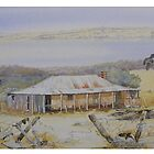 Wheatfields Farm House Dumbleyung by scallyart