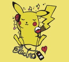 Pikachu Loves Electro Music by Lucialicious