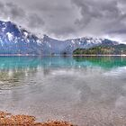Lake Eibsee in the Rain by Daidalos