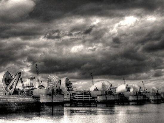 Thames Barrier - Greenwich by Victoria limerick