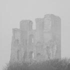 scarborough castle in b&w by darren69
