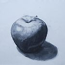 Apple in Charcoal by Geraldine M Leahy