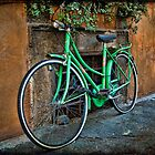 Green Bike by NancyMorgantini