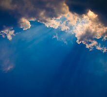 Dark blue cloudy sky by Medeu