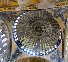 Cupola of Hagia Sophia, Istanbul  by bubblehex08