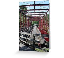 Bridge at Savage Mill Greeting Card