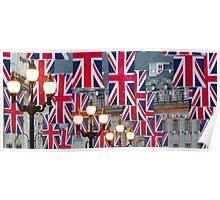 London. Regent Street. Royal Wedding Flags. (Alan Copson ©) Poster