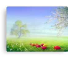 Easter Eggs Canvas Print