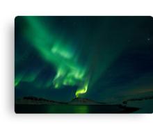 Aurora Volcano in Hvalfjordur Canvas Print