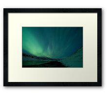 Green Sky over Hvalfjordur Framed Print