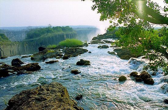 At the Edge of Zambezi, Victoria Falls - Zambia by Alberto  DeJesus