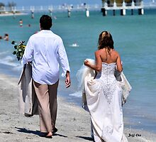 Wedding Dress, Beach Walking by Jeff Ore