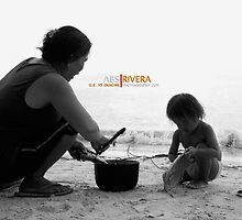 Helping Mom by absrivera