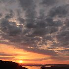 Sunset over the Columbia River Gorge by Michael Lucas