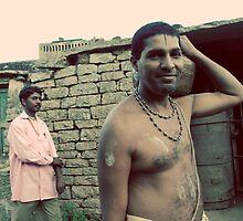 Men at Devara Yana Durga by Lauren Tober