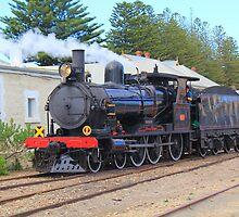 Dean Harvey Steam Ranger, Victor Harbor, SA. by Martin  Brinsley