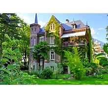 South Tirol, Merano, Beautiful Mansion, HDR Photographic Print
