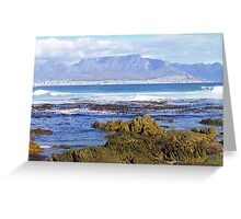 View of Capetown, South Africa from Robben Island Greeting Card