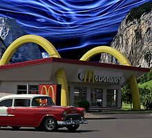 """Cruising McDonalds"" - 1955 Chevy by TeeMack"