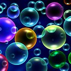 3d abstract  bubbles as  background by Medeu