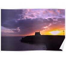 Pink sunset in Playa Blanca Lanzarote Poster