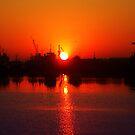 Gulf Island Sunrise by Michael Reimann