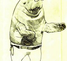 The bare knuckle boxing manatee by Ryan Humphrey