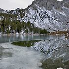 Flower Lake Kearsarge Pass at the crest by Jean  Atwood