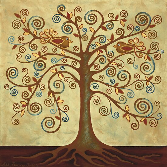 'Tree of Life' Acrylic Painting by Lisa Frances Judd ~ QuirkyHappyArt