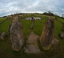 Stone circle at Willen Lake, Milton Keynes by David Isaacson