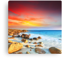Sunrise over the sea Canvas Print