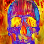 Flamin Skull by Wayniac