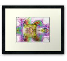 The Marsh of Slithy Toves  (UF0261) Framed Print