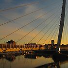 Sunset at the Sail Bridge by Pippa Carvell